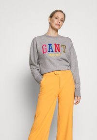 GANT - GRAPHIC - Sweatshirt - grey melange - 0