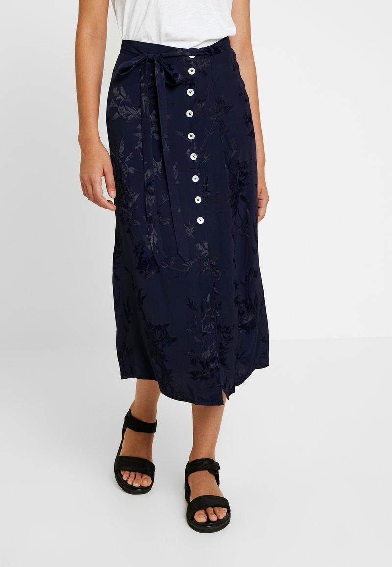 Leon & Harper - JAYGGER - A-line skirt - black iris