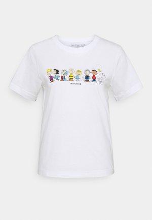 MYSEN PEANUTS CREW - Print T-shirt - white