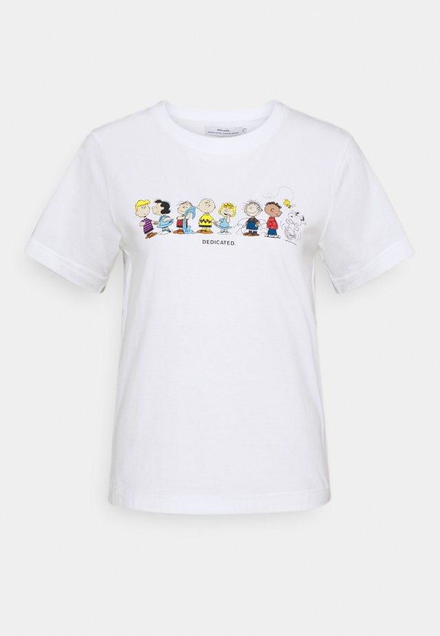 MYSEN PEANUTS CREW - T-shirts med print - white