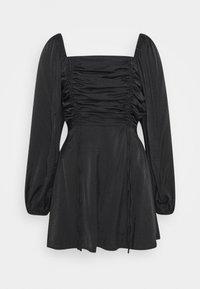 Missguided - RUCHED BUST ALINE DRESS - Kjole - black - 0