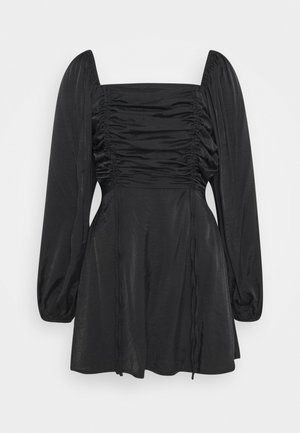 RUCHED BUST ALINE DRESS - Korte jurk - black