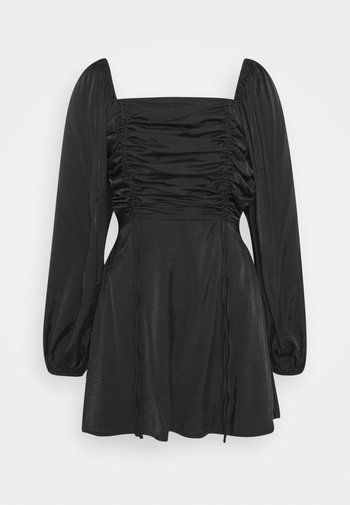 RUCHED BUST ALINE DRESS