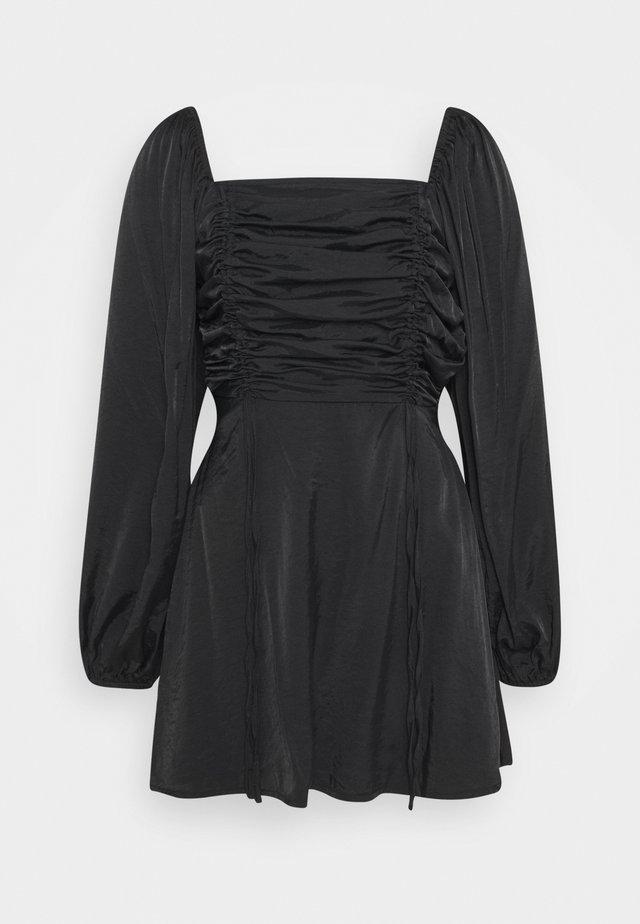 RUCHED BUST ALINE DRESS - Freizeitkleid - black