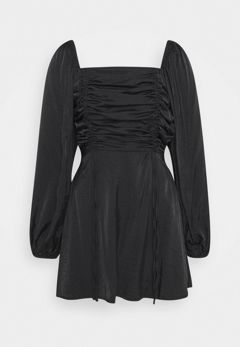 Missguided - RUCHED BUST ALINE DRESS - Kjole - black