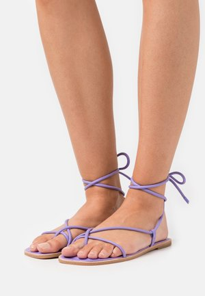 ADRAVIA - T-bar sandals - purple