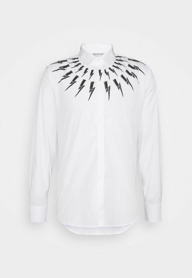 FAIR ISLE THUNDERBOLT - Shirt - white/black