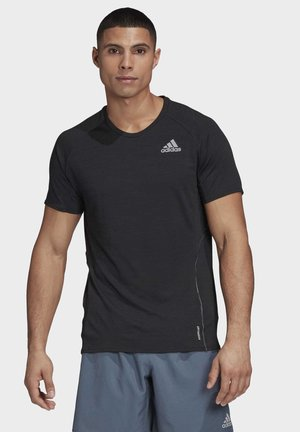 SUPERNOVA PRIMEGREEN RUNNING SHORT SLEEVE TEE - Camiseta estampada - black