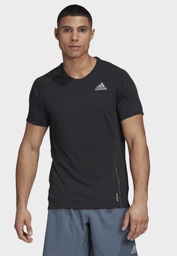 SUPERNOVA PRIMEGREEN RUNNING SHORT SLEEVE TEE - T-shirts med print - black