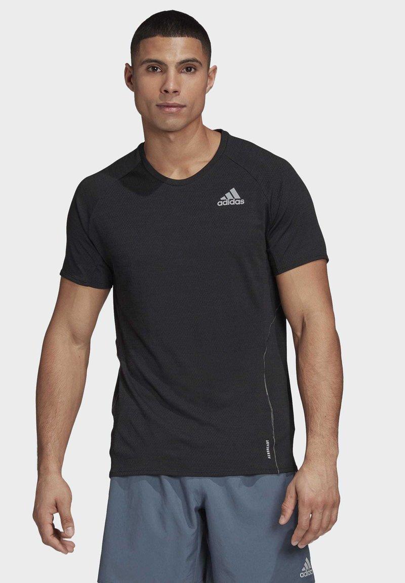 adidas Performance - SUPERNOVA PRIMEGREEN RUNNING SHORT SLEEVE TEE - Print T-shirt - black