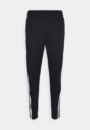 SQUAD - Tracksuit bottoms - black/white