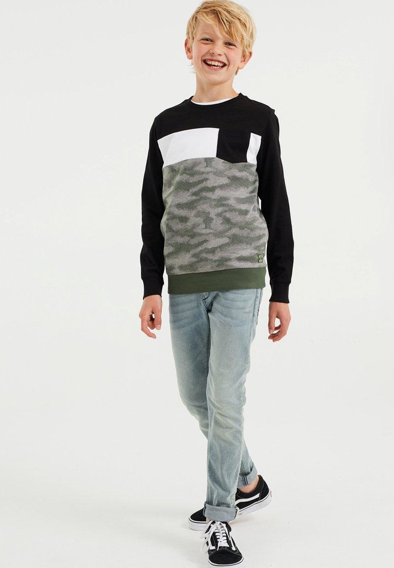 WE Fashion - MET DESSIN - Top sdlouhým rukávem - green