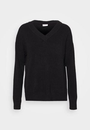 OVERSIZE NECK  - Jumper - black