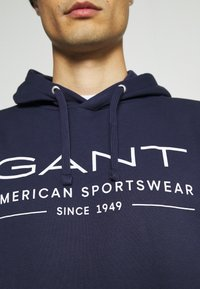 GANT - SUMMER HOODIE - Sweatshirt - classic blue - 4