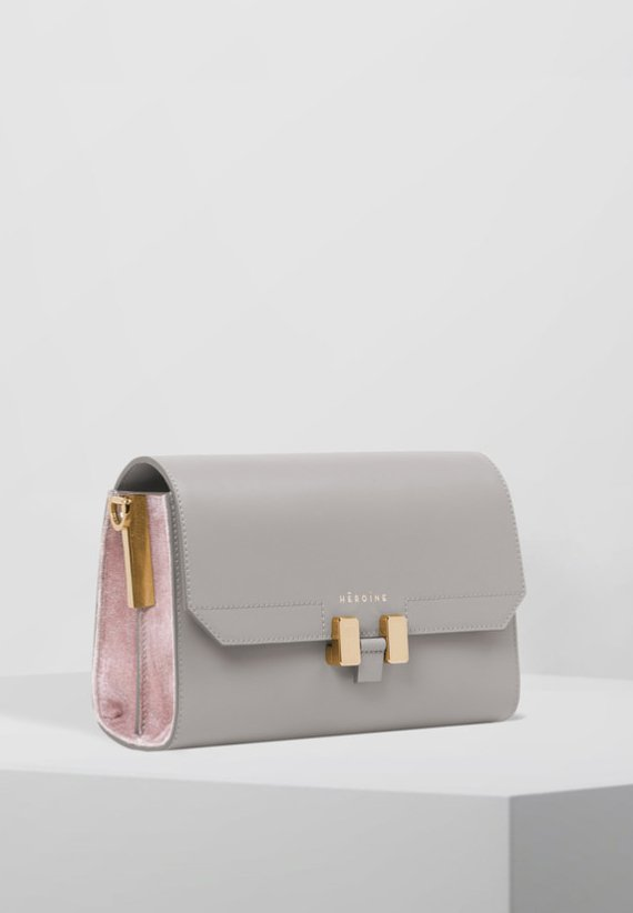LILIA  - Across body bag - grey/pastel rose/gold