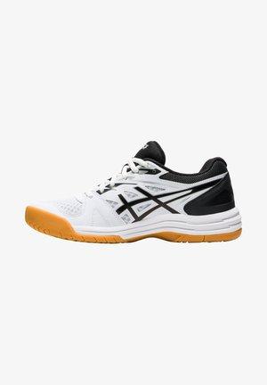 UPCOURT 4 - Carpet court tennis shoes - weiss / schwarz