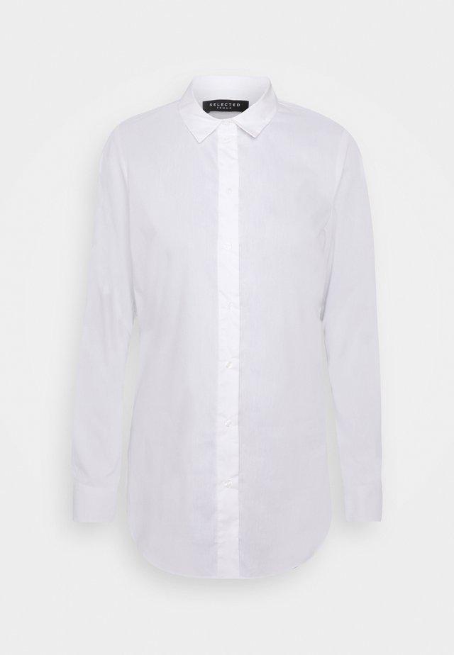 SLFORI SIDE ZIP SHIRT TALL - Bluzka - bright white