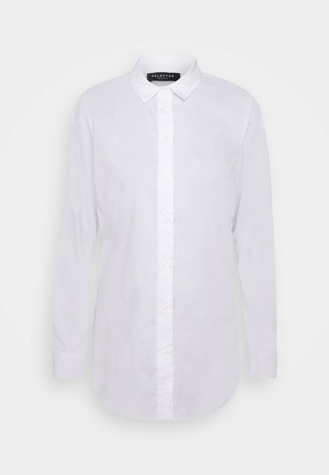 SLFORI SIDE ZIP SHIRT TALL - Bluser - bright white