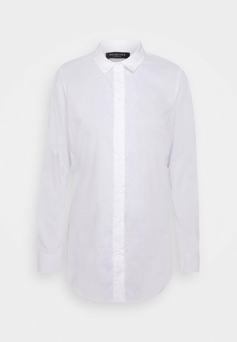 Selected Femme Tall - SLFORI SIDE ZIP SHIRT TALL - Bluser - bright white