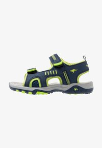 KangaROOS - LOGAN - Walking sandals - dark navy/lime - 1