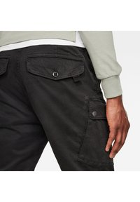 G-Star - ROXIC STRAIGHT TAPERED - Cargo trousers - dk black gd - 2