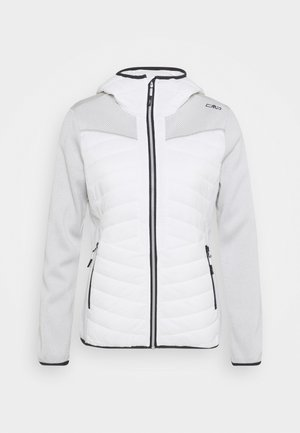 WOMAN JACKET FIX HOOD - Kurtka Outdoor - white