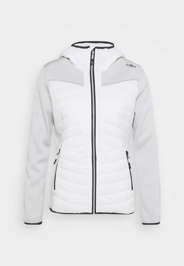 WOMAN JACKET FIX HOOD - Outdoorjas - white