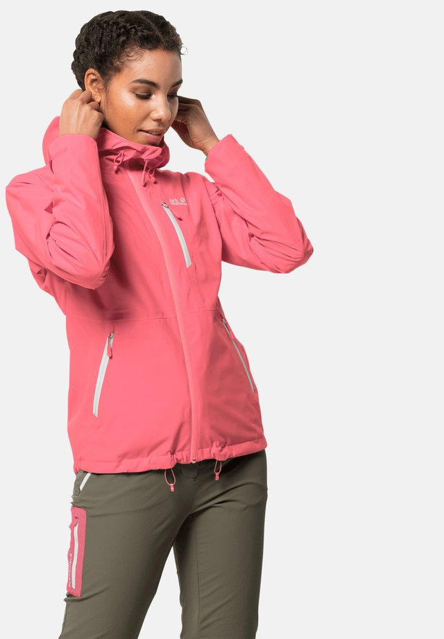 EAGLE PEAK - Waterproof jacket - coral pink