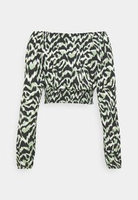 ONLY - ONLPELLA BOW - Long sleeved top - black/green milieu - 7