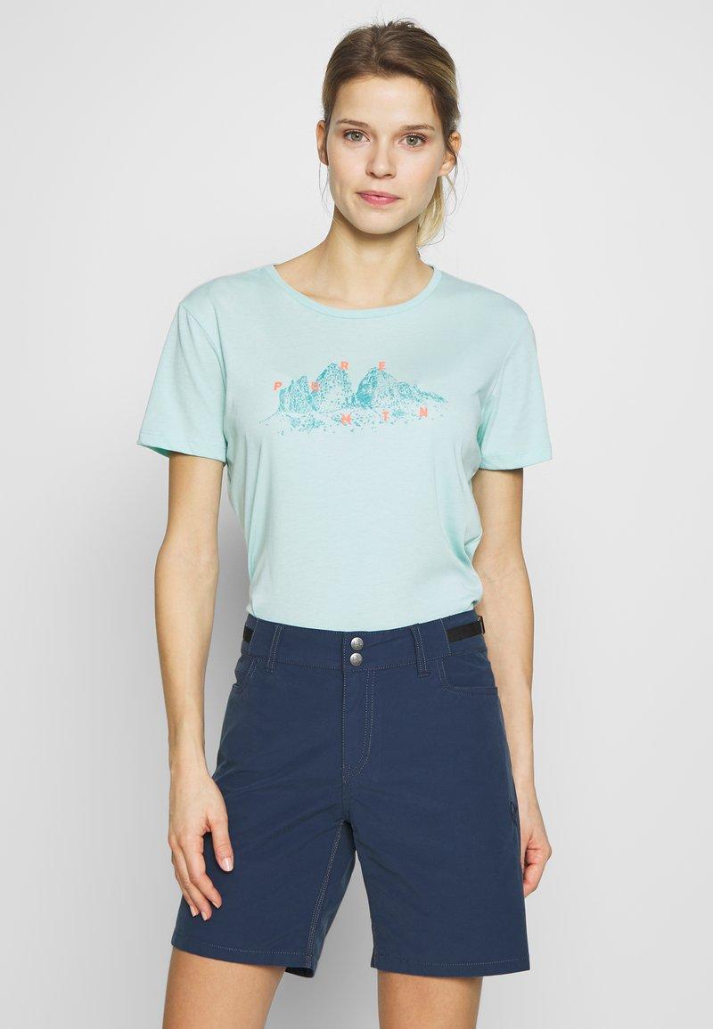 Salewa - GRAPHIC TEE - T-shirt print - canal blue melange