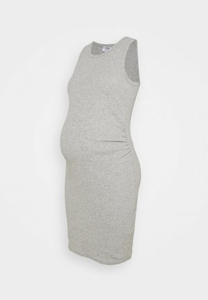 MATERNITY HIGH NECK MIDI DRESS - Jerseykjole - grey marle