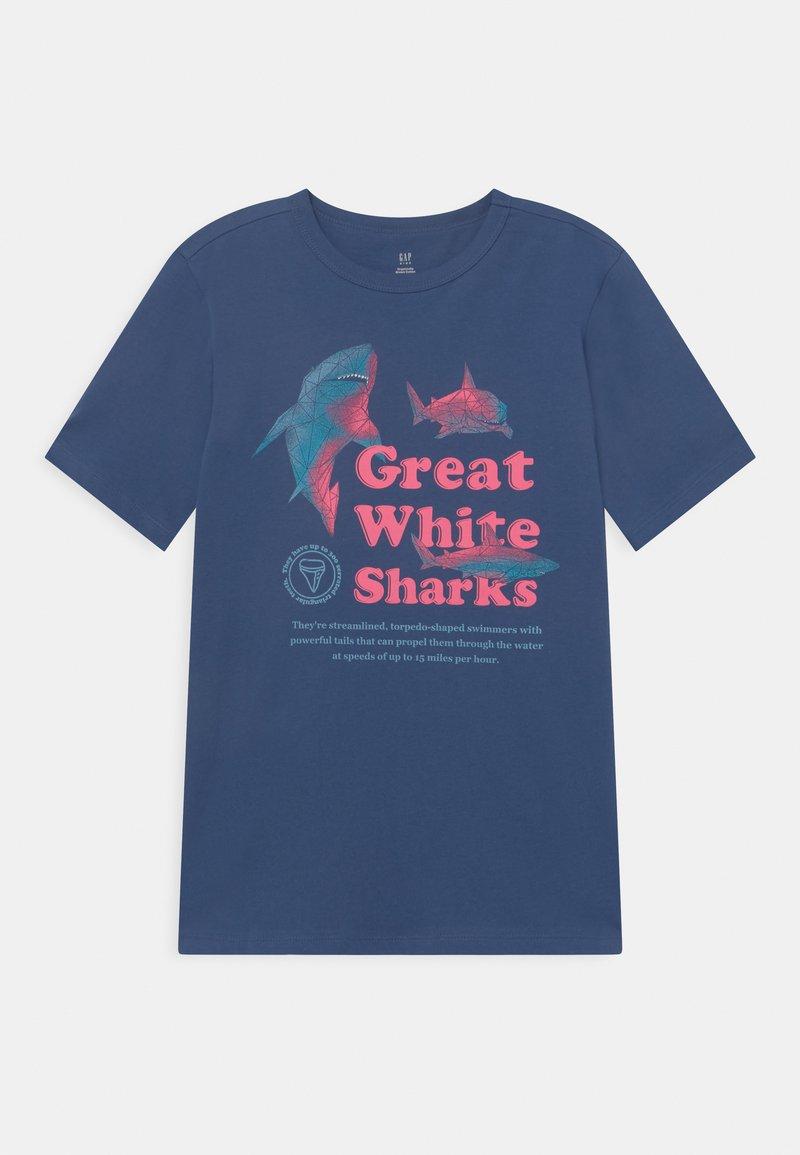 GAP - BOY JUNE  - T-shirt print - chrome blue