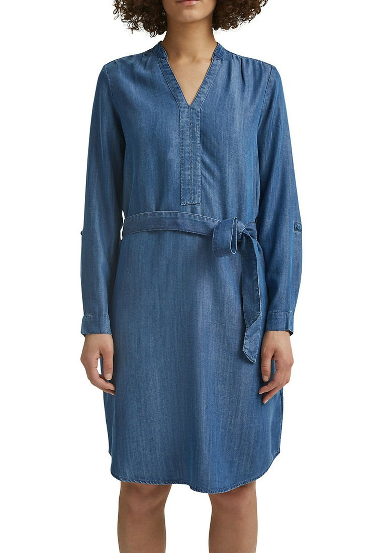 Esprit - Denim dress - blue medium washed