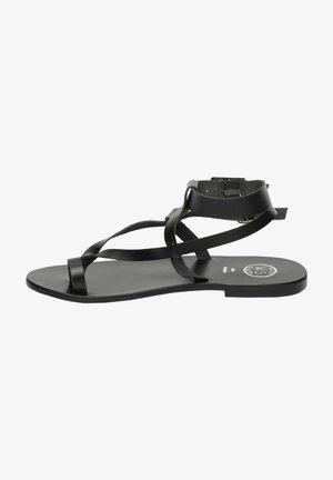 HERMANCE - T-bar sandals - black