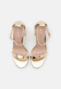 RAID - LORAINE - Sandály na vysokém podpatku - gold - 5