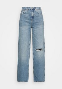 BDG Urban Outfitters - RIPPED KNEE PUDDLE - Jeans relaxed fit - dark vintage - 4