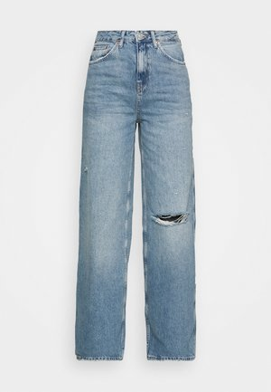 RIPPED KNEE PUDDLE - Relaxed fit jeans - dark vintage