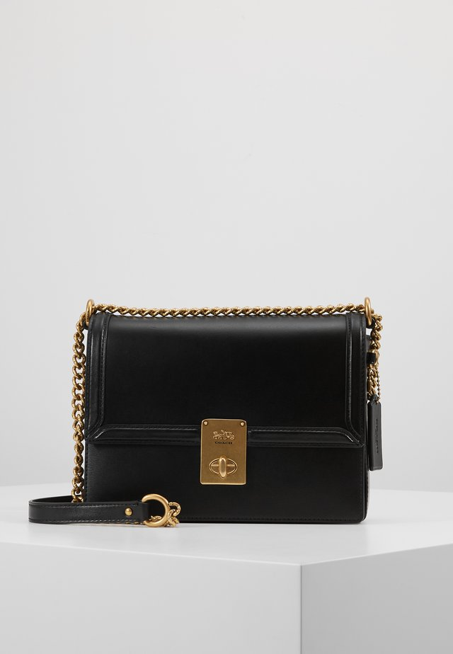 REFINED HUTTON SHOULDER BAG - Handtas - black