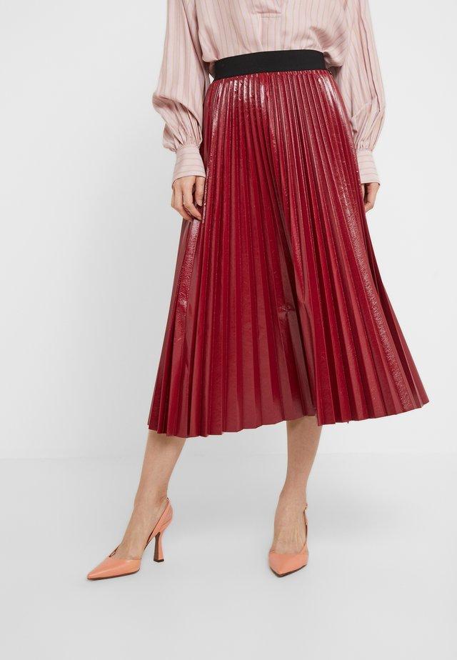 GONNA PLISSE - A-line skirt - indian red