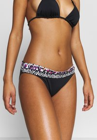 LASCANA - PANT BAND - Bikini bottoms - black/cream - 0