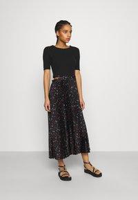 maje - Maxi dress - black - 1