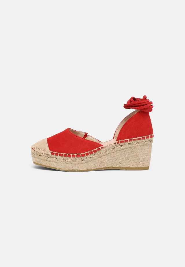 Zapatos de plataforma - red