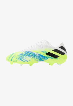 NEMEZIZ 19.2 FG - Moulded stud football boots - footwear white/core black/signal green