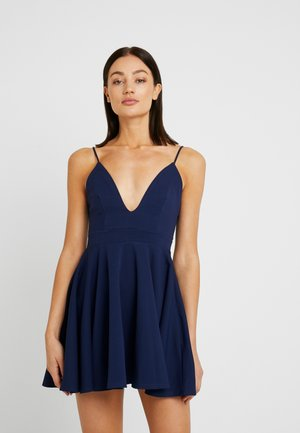 CAMI FIT FLARE SKATER DRESS - Cocktail dress / Party dress - navy