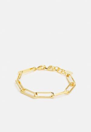 LONG LINK MIXED CHAIN BRACELET - Bracelet - pale gold-coloured
