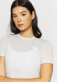 The North Face - W ACTIVE TRAIL WOOL  - Print T-shirt - tin grey heather - 4