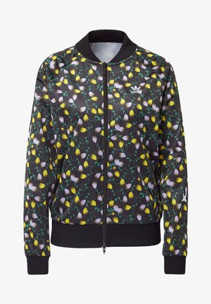 ALLOVER PRINT TRACK TOP - Kurtka Bomber - black/yellow