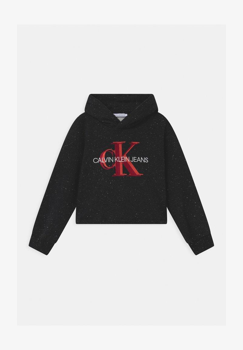 Calvin Klein Jeans - OVERLAPPING MONOGRAM BOXY HOODIE - Hoodie - black