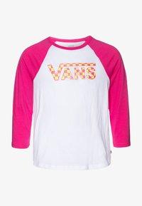 Vans - CHECK MY SHINE RAGLAN - Top sdlouhým rukávem - fuchsia purple/white - 0