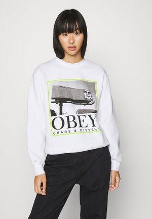 CHAOS & DISSENT - Sweatshirt - white